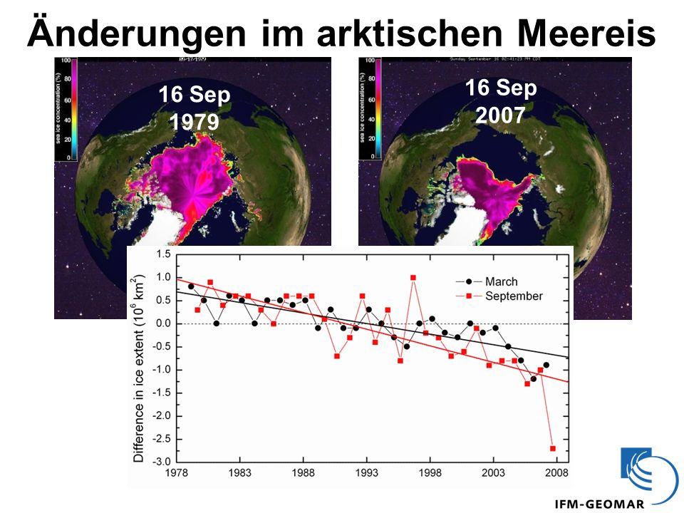 Änderungen im arktischen Meereis