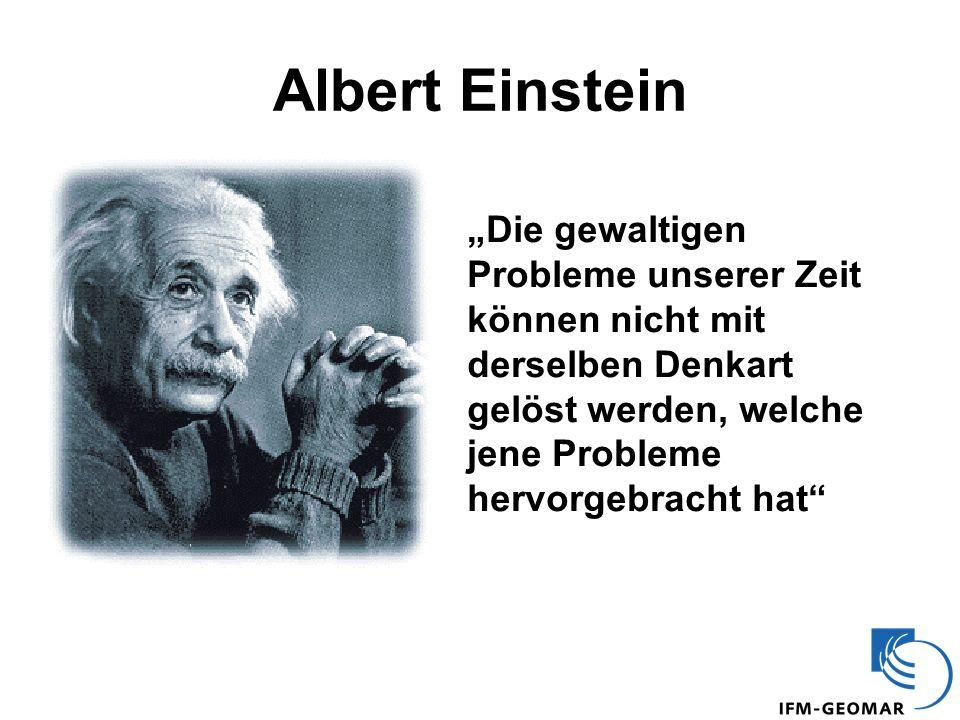 """Albert Einstein """"Die gewaltigen Probleme unserer Zeit können nicht mit derselben Denkart gelöst werden, welche jene Probleme hervorgebracht hat"""