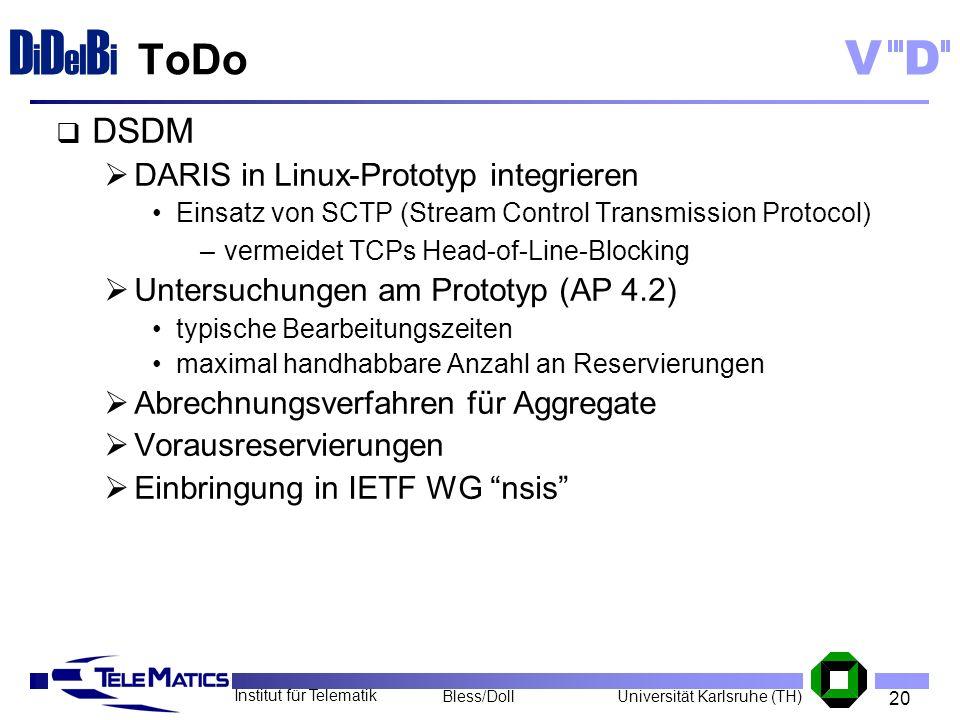 ToDo DSDM DARIS in Linux-Prototyp integrieren