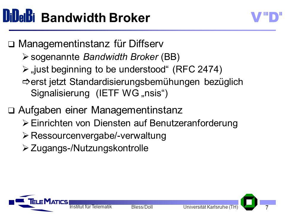 Bandwidth Broker Managementinstanz für Diffserv