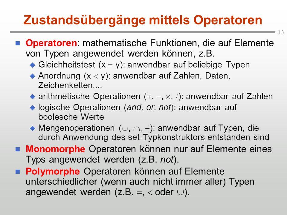 Zustandsübergänge mittels Operatoren