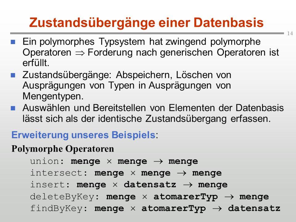 Zustandsübergänge einer Datenbasis