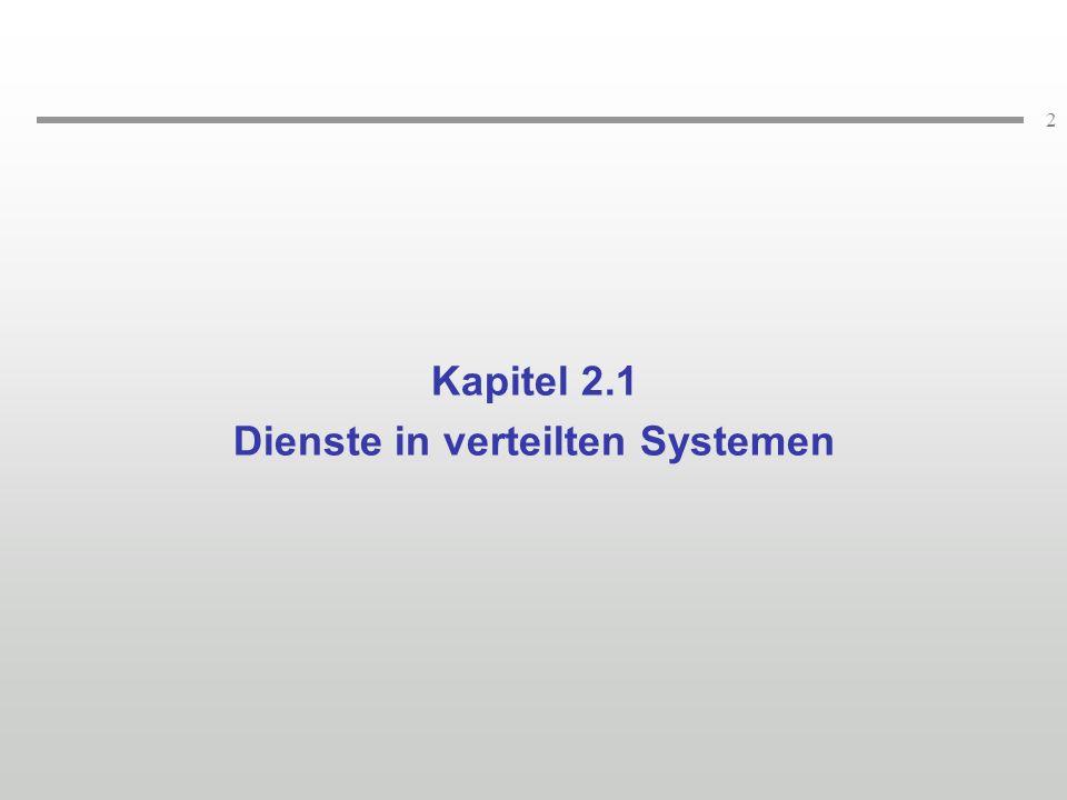 Dienste in verteilten Systemen