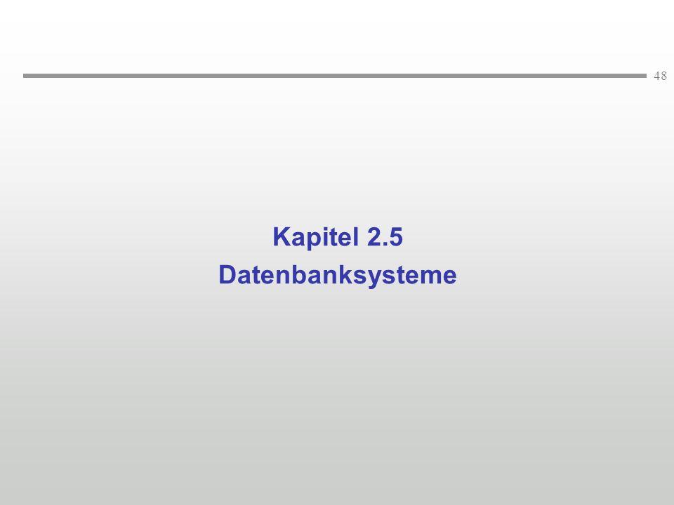 Kapitel 2.5 Datenbanksysteme