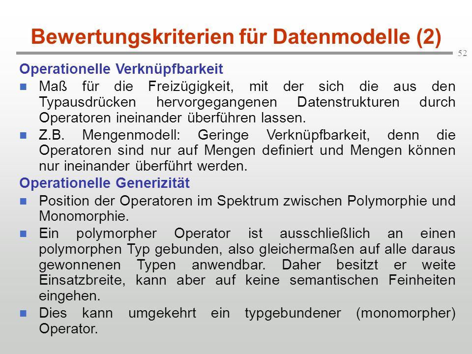 Bewertungskriterien für Datenmodelle (2)