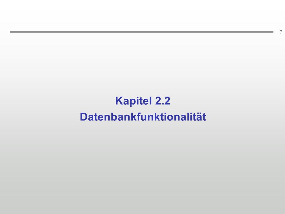 Datenbankfunktionalität
