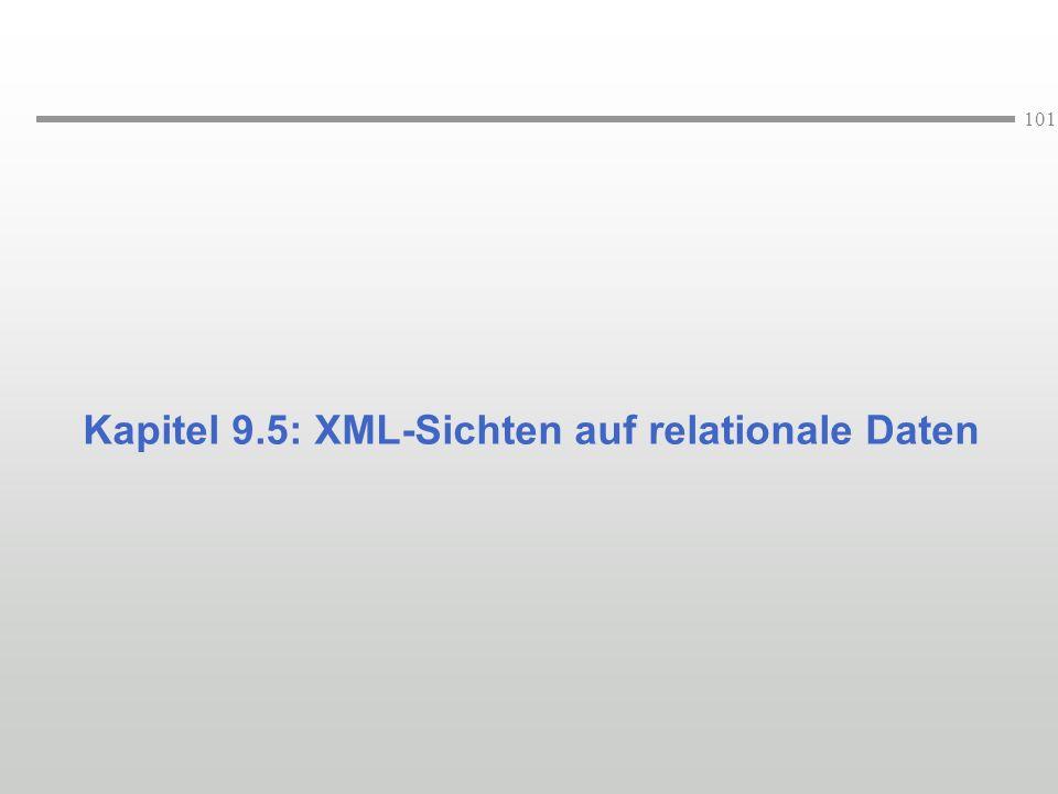 Kapitel 9.5: XML-Sichten auf relationale Daten