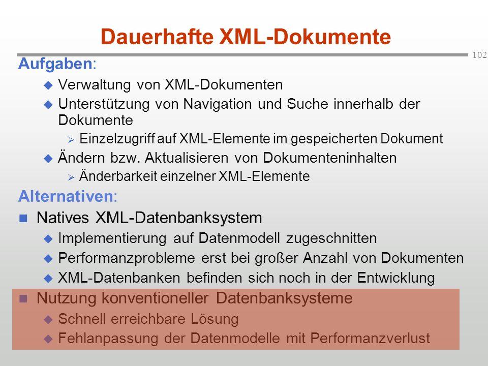 Dauerhafte XML-Dokumente