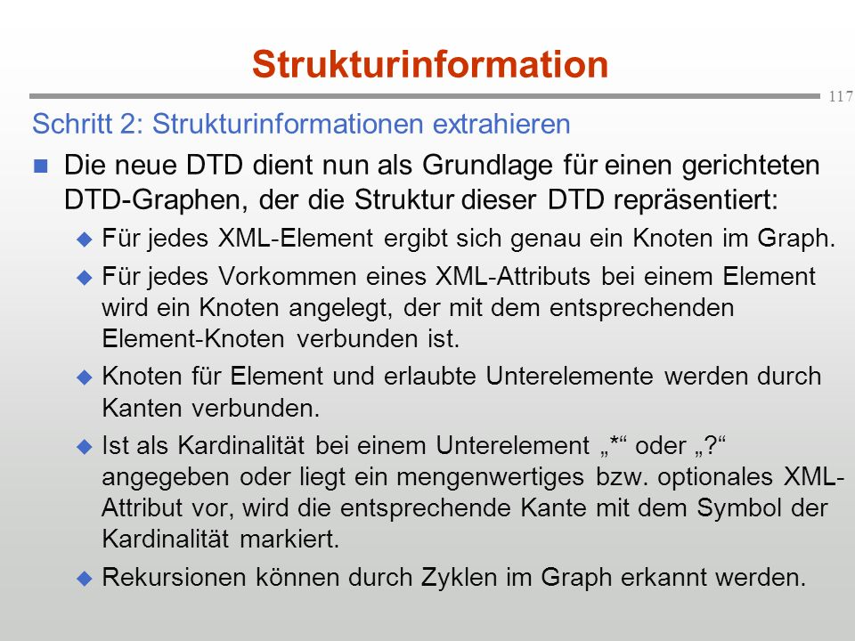 Strukturinformation Schritt 2: Strukturinformationen extrahieren