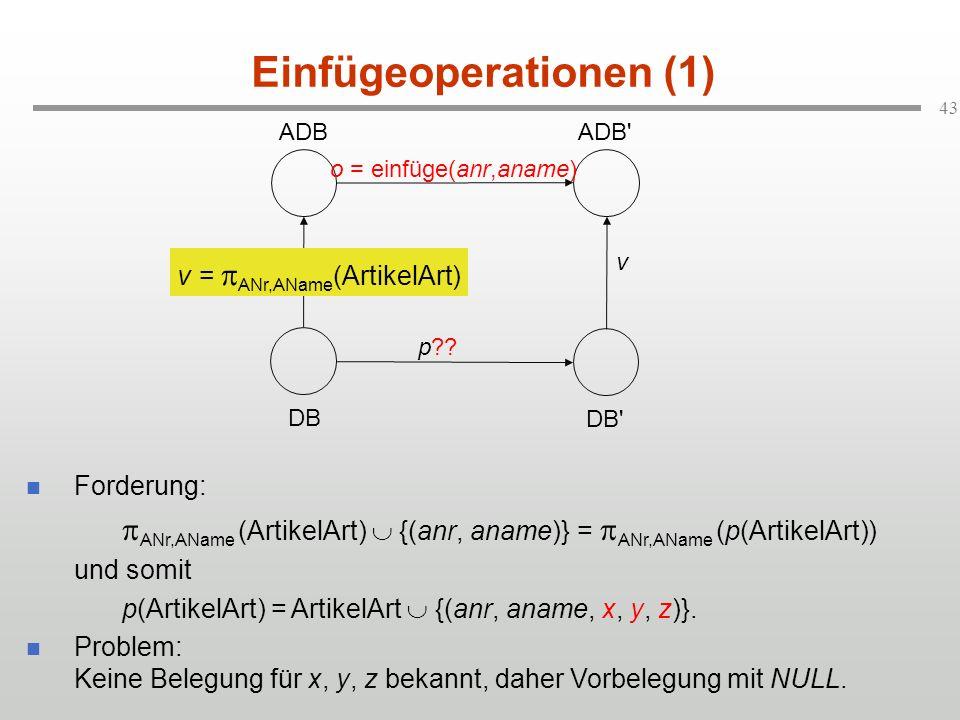 Einfügeoperationen (1)