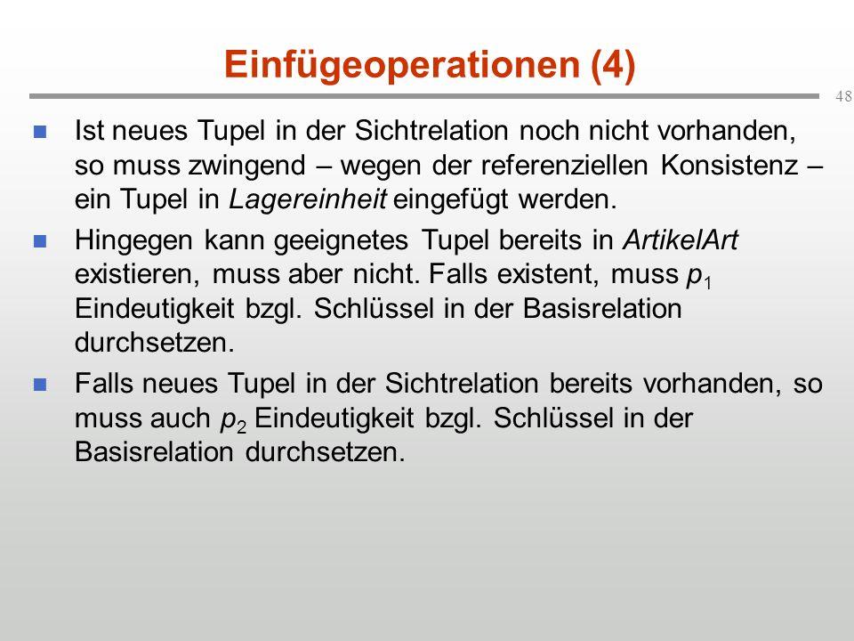 Einfügeoperationen (4)