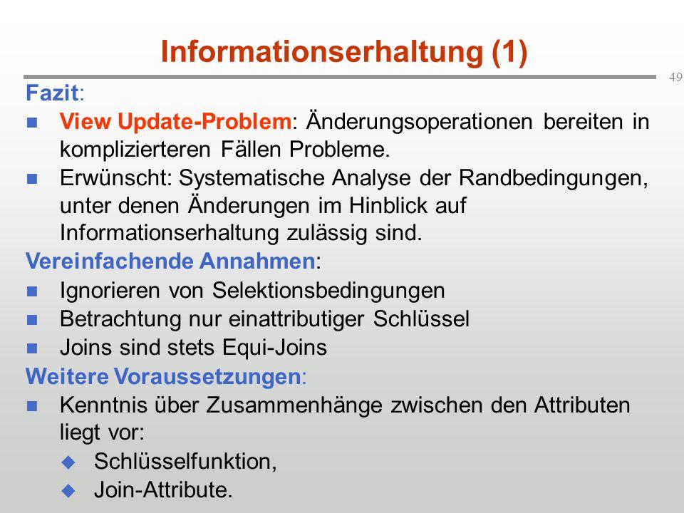 Informationserhaltung (1)