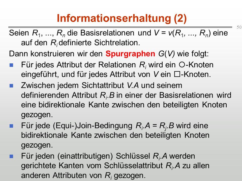Informationserhaltung (2)