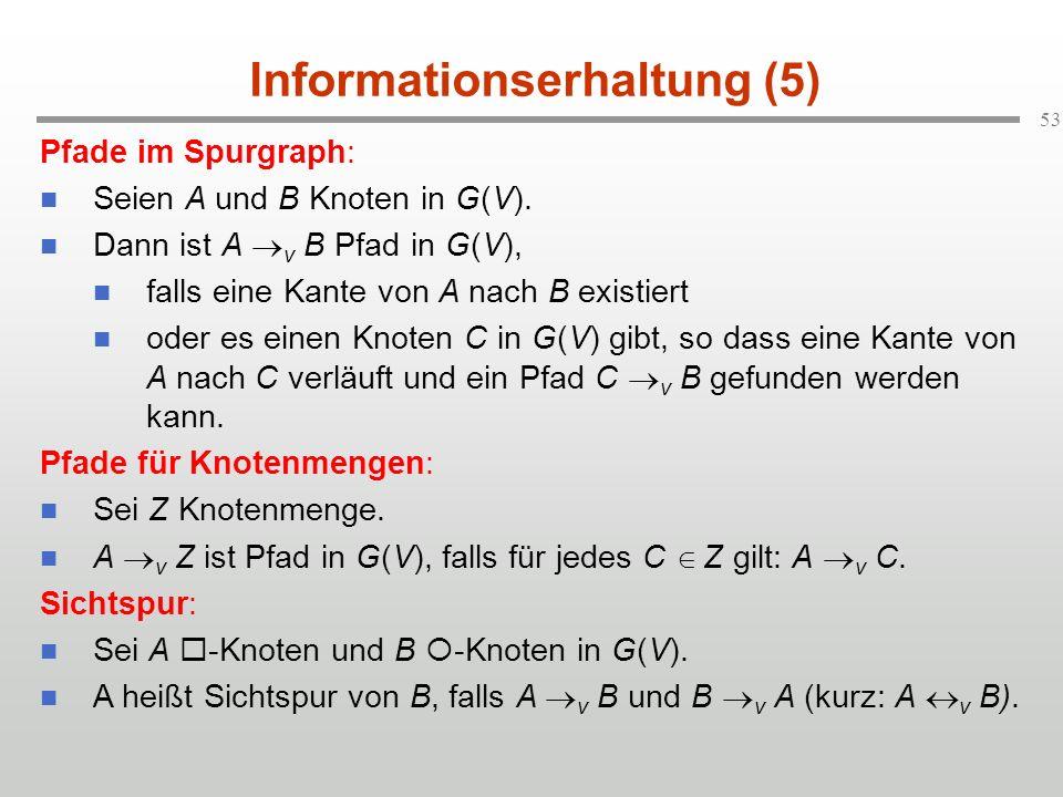 Informationserhaltung (5)