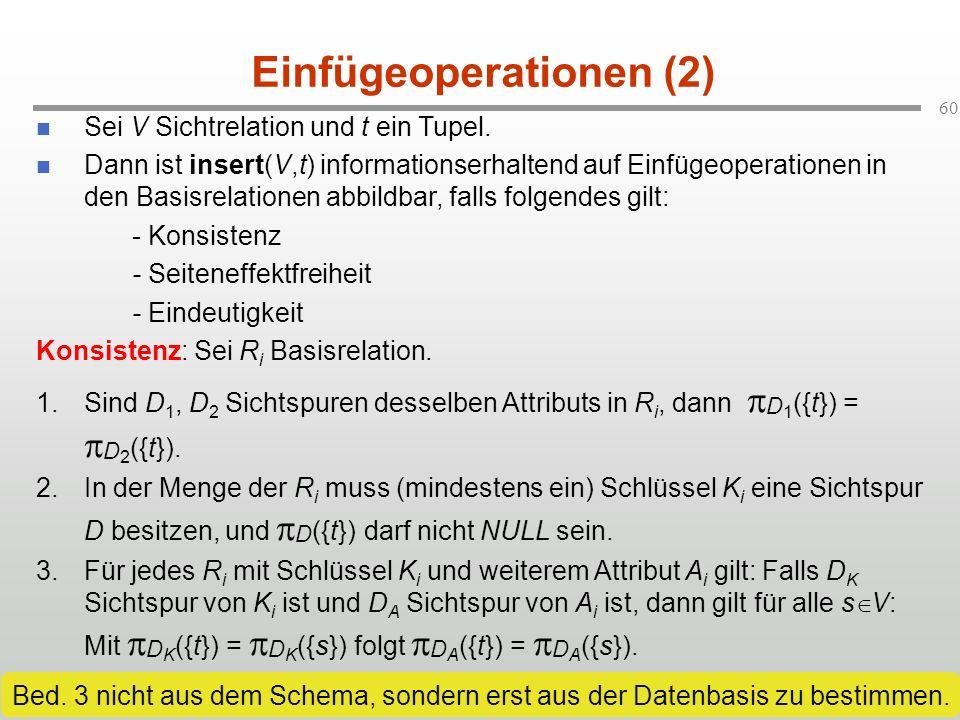 Einfügeoperationen (2)