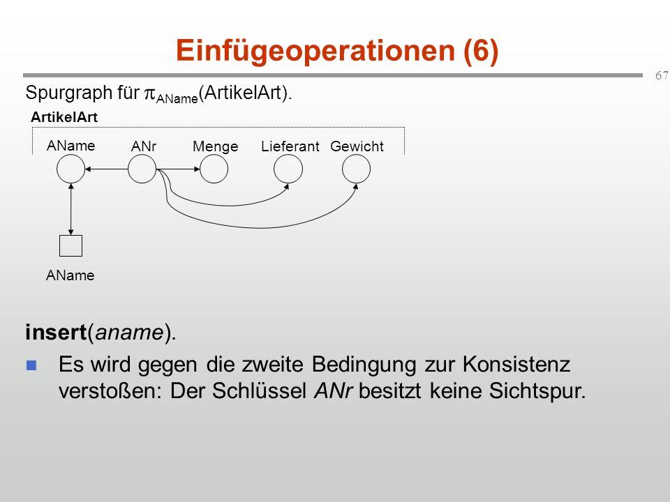 Einfügeoperationen (6)