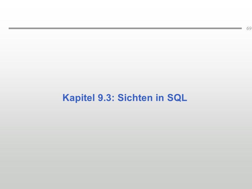 Kapitel 9.3: Sichten in SQL