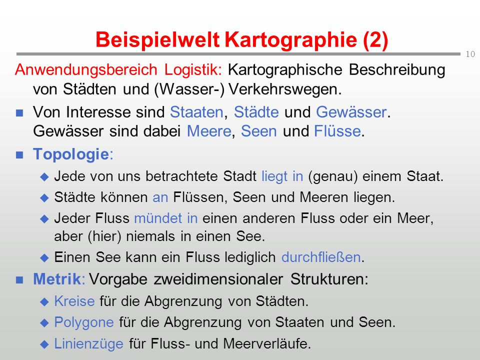Beispielwelt Kartographie (2)