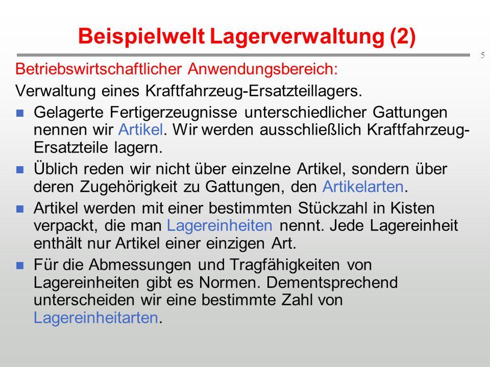Beispielwelt Lagerverwaltung (2)