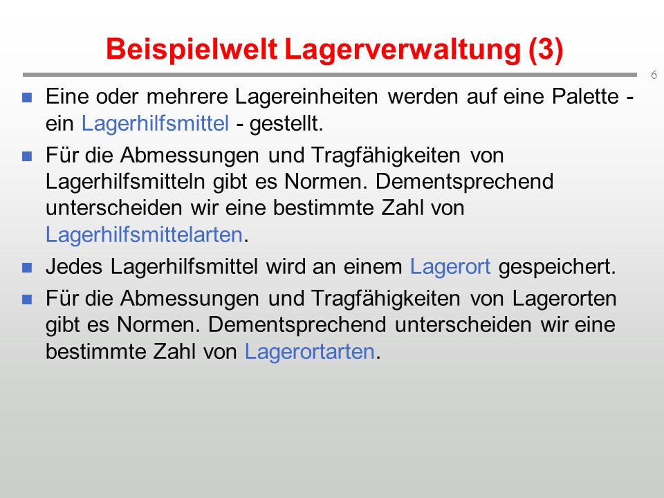 Beispielwelt Lagerverwaltung (3)