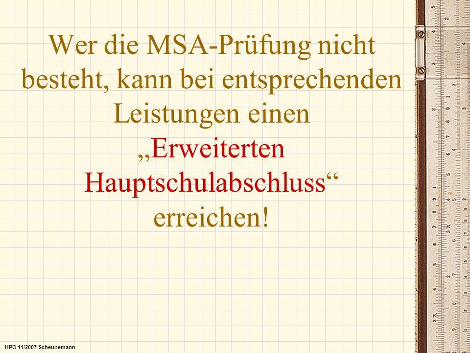 """Wer die MSA-Prüfung nicht besteht, kann bei entsprechenden Leistungen einen """"Erweiterten Hauptschulabschluss erreichen!"""