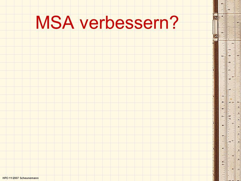 MSA verbessern HPO 11/2007 Scheunemann