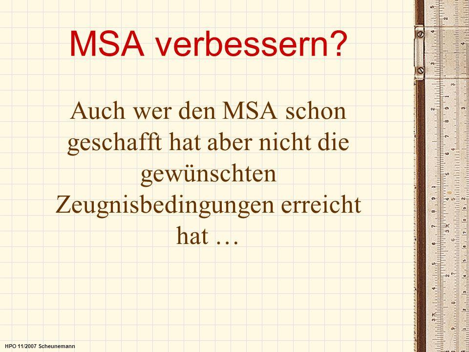 MSA verbessern Auch wer den MSA schon geschafft hat aber nicht die gewünschten Zeugnisbedingungen erreicht hat …