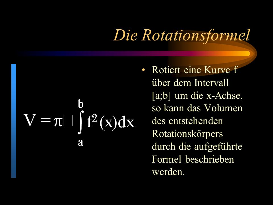 V = p×. Die Rotationsformel