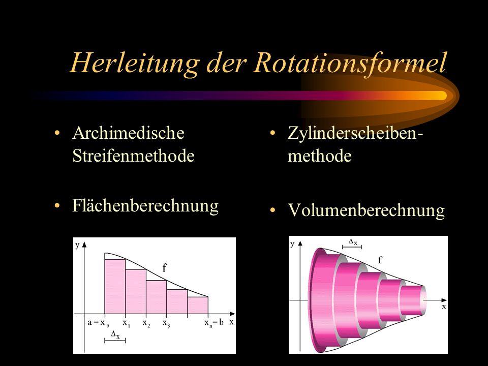 Herleitung der Rotationsformel