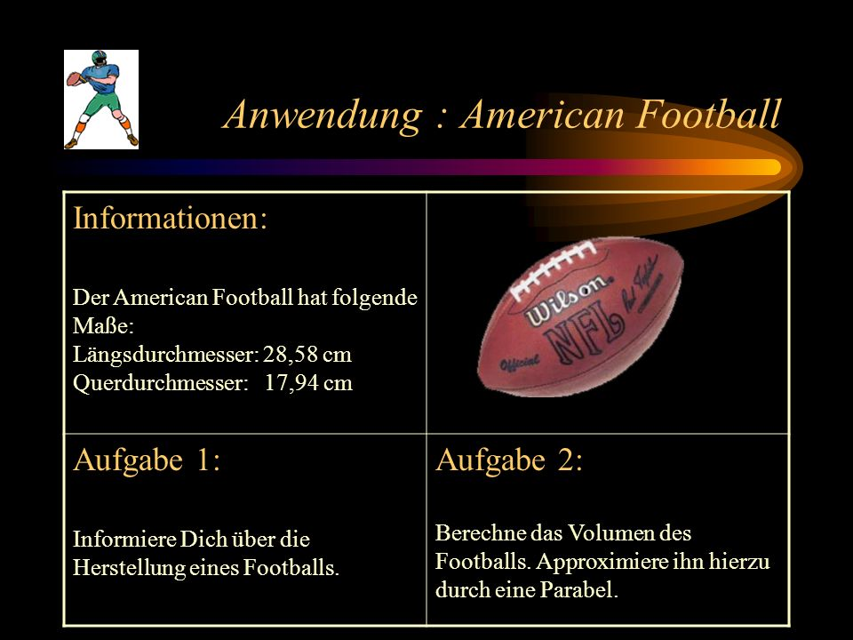 Anwendung : American Football