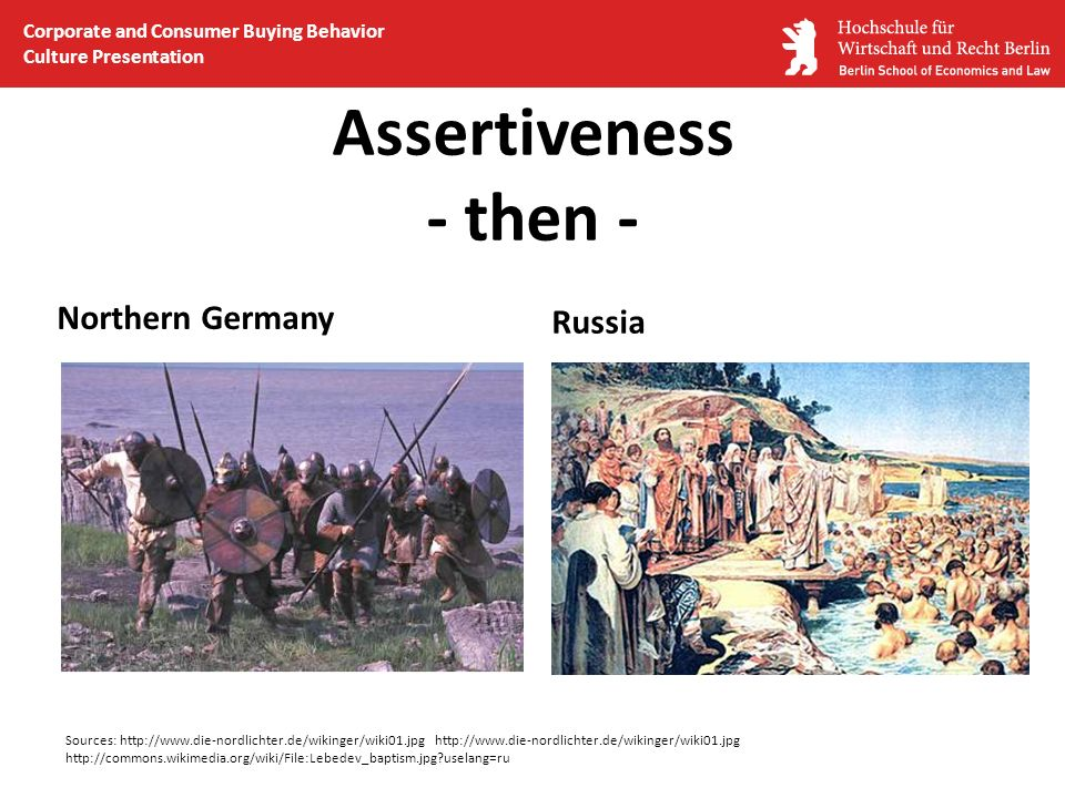 Assertiveness - then - Northern Germany Russia