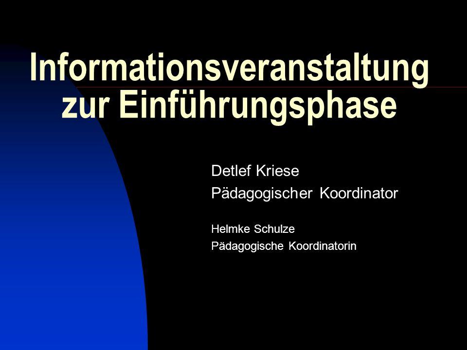 Informationsveranstaltung zur Einführungsphase
