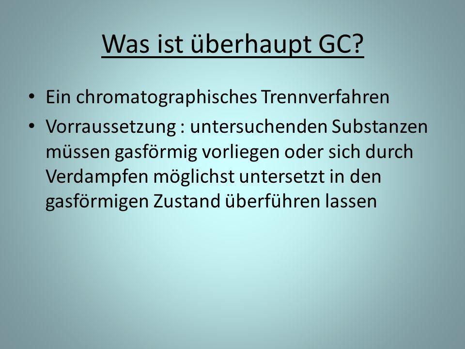 Was ist überhaupt GC Ein chromatographisches Trennverfahren