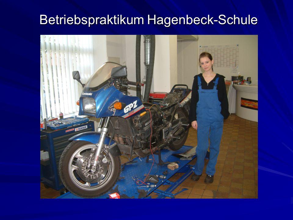 Betriebspraktikum Hagenbeck-Schule