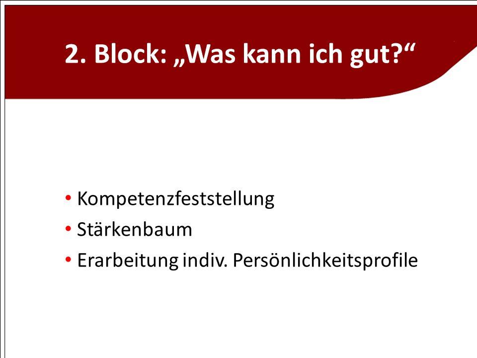 """2. Block: """"Was kann ich gut"""
