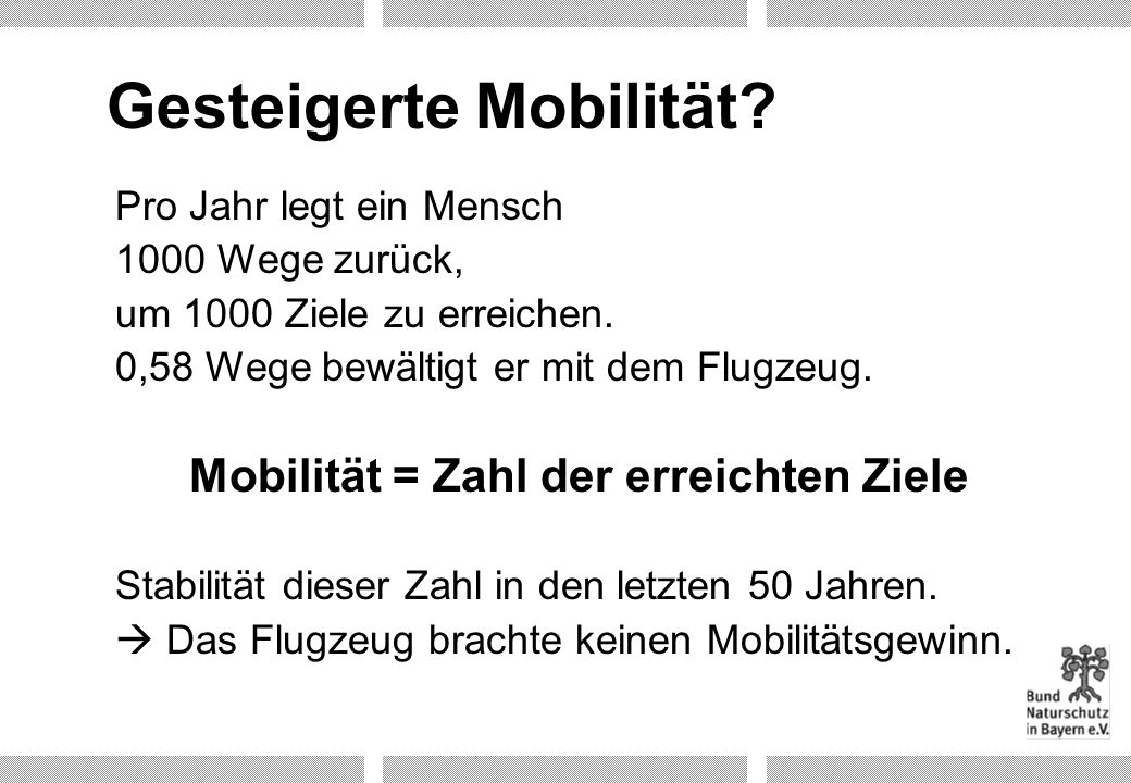 Gesteigerte Mobilität