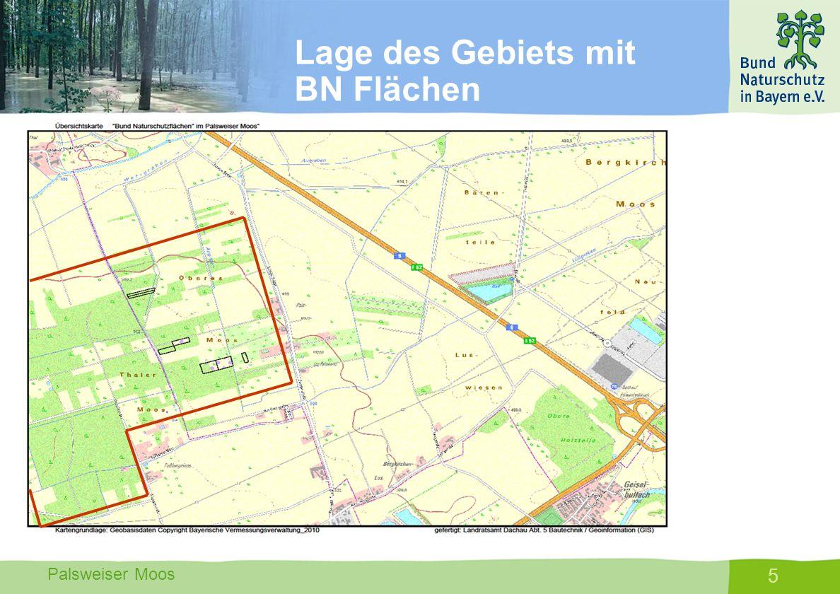 Lage des Gebiets mit BN Flächen