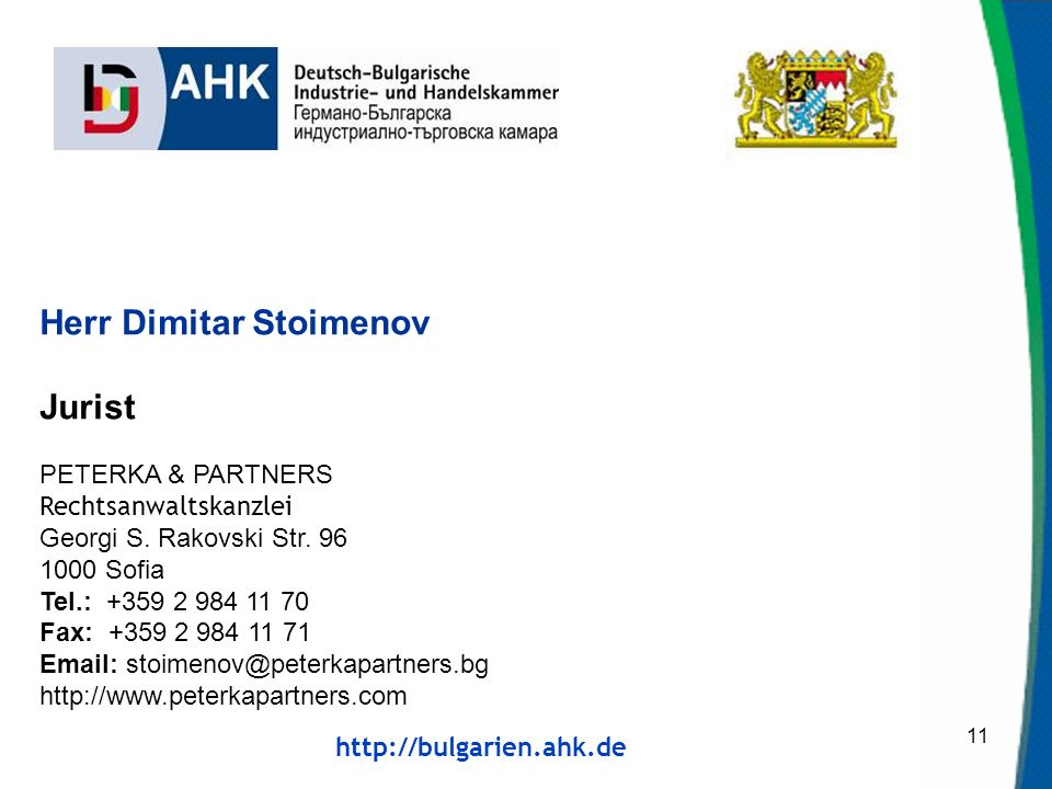 Herr Dimitar Stoimenov Jurist