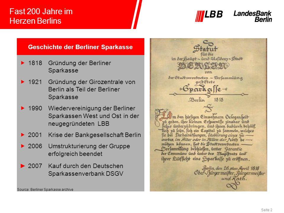 Geschichte der Berliner Sparkasse