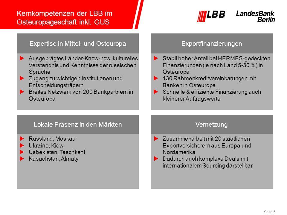 Kernkompetenzen der LBB im Osteuropageschäft inkl. GUS