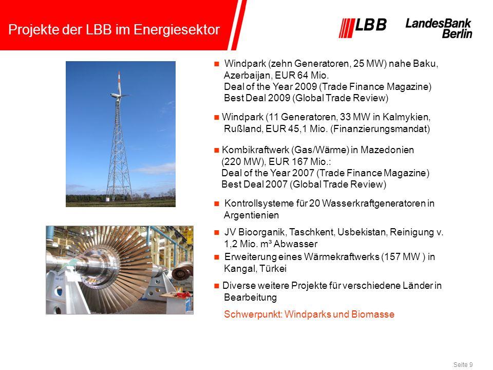 Projekte der LBB im Energiesektor