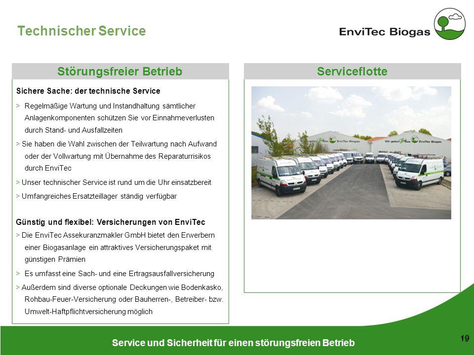 Technischer Service Störungsfreier Betrieb Serviceflotte