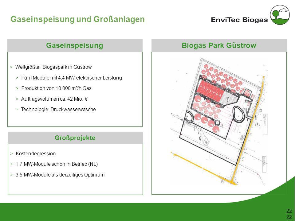 Gaseinspeisung und Großanlagen