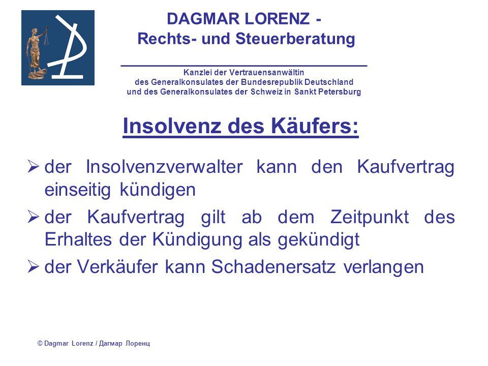 Insolvenz des Käufers: