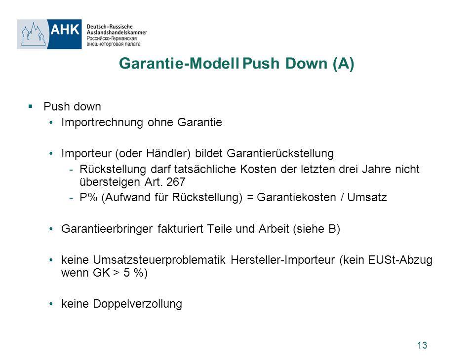 Garantie-Modell Push Down (A)