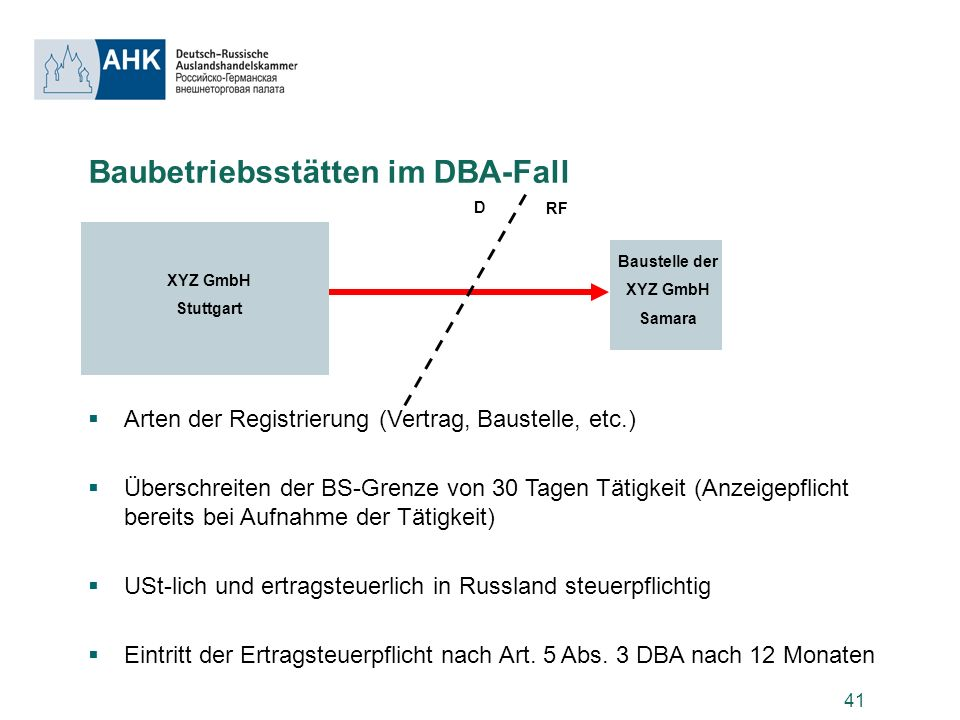 Baubetriebsstätten im DBA-Fall