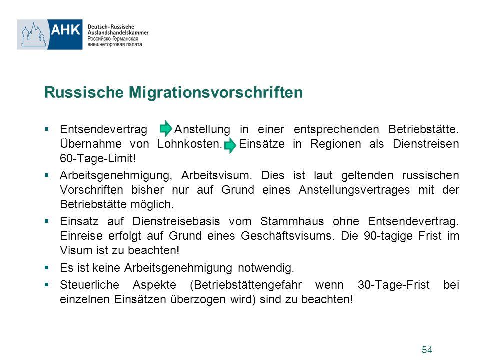 Russische Migrationsvorschriften