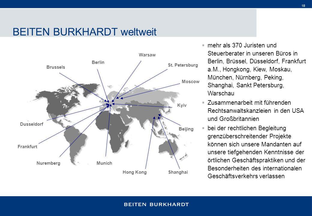 BEITEN BURKHARDT weltweit