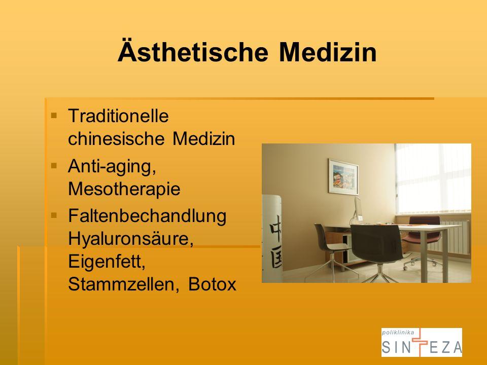 Ästhetische Medizin Traditionelle chinesische Medizin