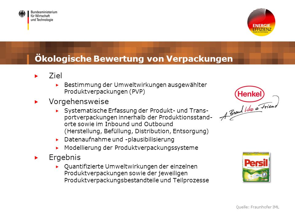 Ökologische Bewertung von Verpackungen